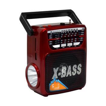 Rádio Portátil FM/AM/SW MegaStar RX-802BT com Bluetooth/USB/Lanterna - Vermelho