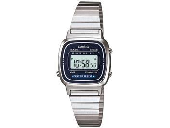 Relógio Feminino Casio Digital Vintage - LA670WA-2DF Prata