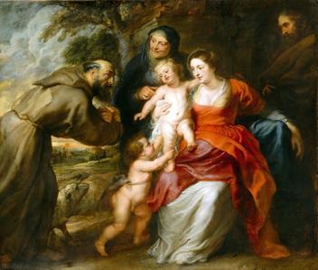 Sagrada Família - Rubens  Tela Baby Para Quadro - Santhatela