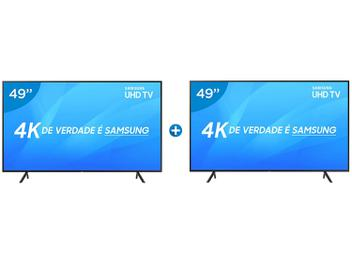 "Smart TV 4K LED 49"" Samsung NU7100 Wi-Fi HDR - Conversor Digital 3 HDMI 2 USB 2 Unidades"