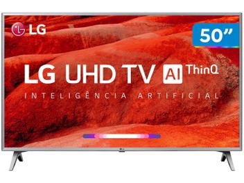 "Smart TV 4K LED 50"" LG 50UM7500 Wi-Fi - Inteligência Artificial Conversor Digital 4 HDMI"