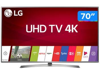 """Smart TV LED Ultra HD 4K 70"""" LG 70UJ6585 4 HDMI 2 USB Bluetooth"""