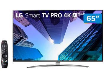 "Smart TV 4K LED IPS 65"" LG 65UM7650PSB Wi-Fi - Bluetooth HDR Inteligência Artificial 4 HDMI 2 USB"