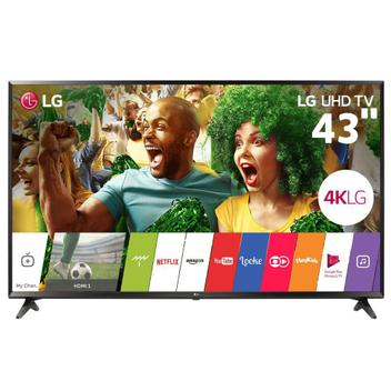 """Smart TV LED 43"""" LG 43UJ6300, Ultra HD 4K, Wi-Fi, Painel IPS, HDMI, USB"""