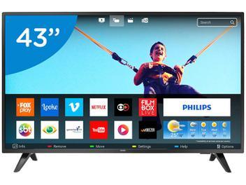 """Smart TV LED 43"""" Philips 43PFG5813/78 Full HD - Wi-Fi Conversor Digital 2 HDMI 2 USB"""