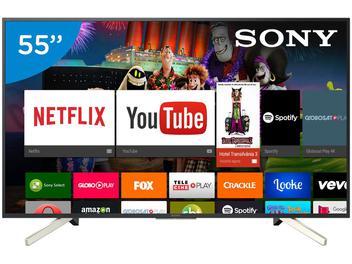 """Smart TV LED 55"""" Sony 4K/Ultra HD KD-55X755F - Android Conversor Digital Wi-Fi 4 HDMI 3 USB"""