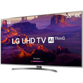 Smart TV LED PRO 55'' Ultra HD 4K LG 55UM 761 4 HDMI 2 USB Wi-fi Conversor Digital