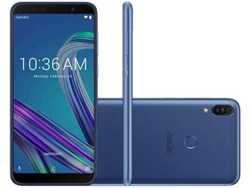 "Smartphone Asus ZenFone Max Pro (M1) 32GB Azul 4G - 3GB RAM Tela 6"" Câm. Dupla + Câm. Selfie 8MP"