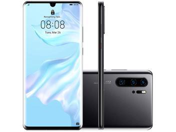 "Smartphone Huawei P30 Pro 256GB Preto 4G 8GB RAM - Tela 6,47"" Câm. Quadrupla + Câm. Selfie 32MP"