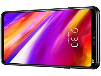 "Smartphone LG G7 ThinQ 64GB Preto Dual Chip 4G - Câm. 16MP e 16MP + Selfie 8MP Tela 6,1"" Quad HD"
