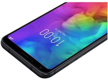"Smartphone LG Q7+ 64GB Preto 4G Octa Core 4GB RAM - Tela 5,5"" Câm. 16MP + Selfie 5MP Dual Chip"