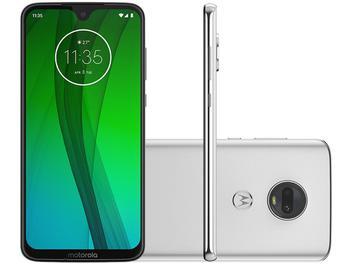 "Smartphone Motorola G7 64GB Polar 4G - 4GB RAM Tela 6,24"" Câm. Dupla + Câm. Selfie 8MP"