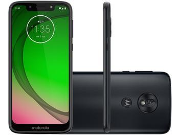 "Smartphone Motorola G7 Play 32GB Indigo 4G - 2GB RAM Tela 5,7"" Câm. 13MP + Câm. Selfie 8MP"