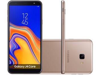 "Smartphone Samsung Galaxy J4 Core 16GB Cobre 4G - Quad Core 1GB RAM Tela 6"" Câm. 8MP + Selfie 5MP"