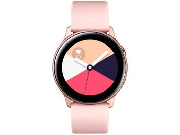 Smartwatch Samsung Watch Active Galaxy - Rosê 4GB - Magazine Ofertaesperta