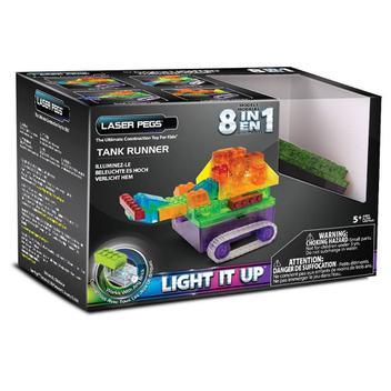 Tanque de Guerra 8 em1 Laser Pegs