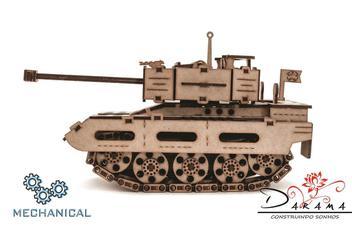 Tanque pequeno - quebra cabeças 3d mecânico - darama