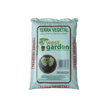 Terra Vegetal Saco com 2kg - West Garden