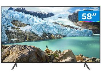 """Smart TV 4K LED 58"""" Samsung UN58RU7100 - Wi-Fi Bluetooth HDR 3 HDMI 2 USB"""