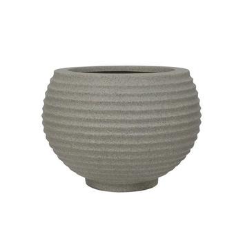 Vaso em Polietileno Oval Bromélia 26cm Pedra - Vasart