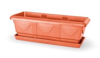 Vaso Jardineira com Prato 50 cm cor - Nutriplan