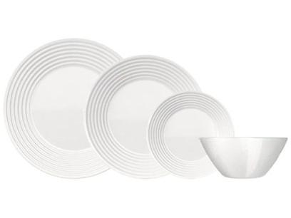 Aparelho de Jantar 16 Peças Duralex Branco - Saturno