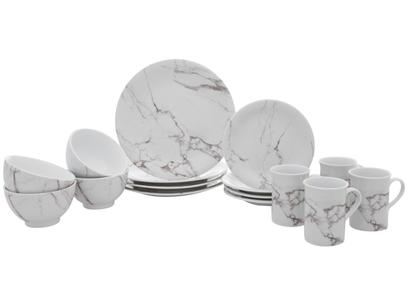 Aparelho de Jantar 16 Peças Schmidt Porcelana - Redondo Mármore