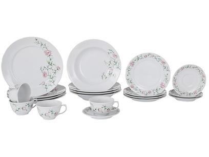 Aparelho de Jantar 20 Peças Schmidt Redondo - Colorido Porcelana Teresa 57890200030038102347
