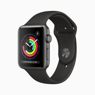 Apple Watch Series 3 (GPS) - 42mm - Caixa cinza-espacial de alumínio com pulseira esportiva preta