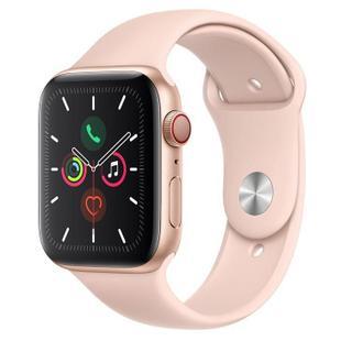 Apple Watch Series 5 CellulGPS, 44 mm, Alum Dourado Puls Esport Areia Rosa Fecho Clássico MWWD2BZ/A