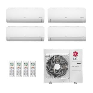 Ar-Condicionado Multi Split Inverter LG 30.000 BTUs 220V Quente/Frio (4x Evap HW 8.500)