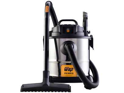 Aspirador de Pó e Água Wap 1600W - GTW Inox 20 Preto e Prata