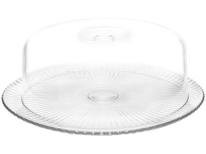 Boleira de Vidro Redonda com Tampa de Plástico - Ruvolo Bari 32cm
