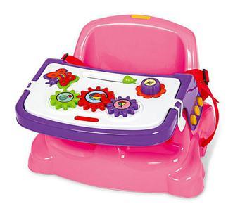 Cadeira Cadeirinha Alimentação Bebê Portátil Didática - Poliplac Rosa