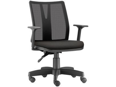 Cadeira de Escritório Diretor Giratória Preta - Office Addit Frisokar