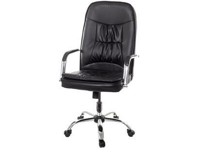 Cadeira de Escritório Presidente Giratória Preta - P-750 Prizi