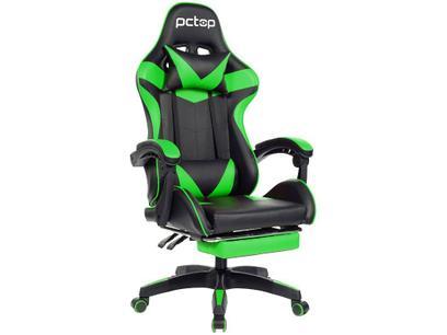 Cadeira Gamer PCTop Verde Racer 1006
