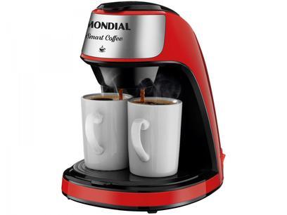 Cafeteira Elétrica Mondial Smart Coffee C-42-2XRI - 2 Cafés Vermelha