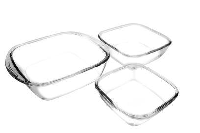 Conjunto de Assadeiras de Vidro Sempre - Quadrado 3 Peças