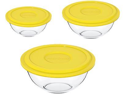 Conjunto de Tigelas de Vidro 3 Peças Marinex - Plus