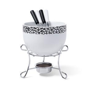 Conjunto para fondue 6 peças branco brinox 1256/105