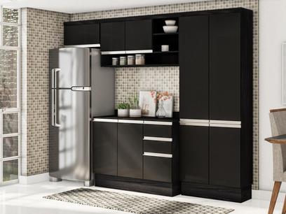 Cozinha Compacta Multimóveis Suíça 5195ML - com Balcão 10 Portas 2 Gavetas