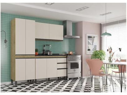 Cozinha Compacta SMP Viena com Balcão 8 Portas - 3 Gavetas