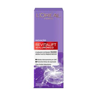 Creme Anti-idade para Olhos L'Oréal Paris - Revitalift Hialurônico