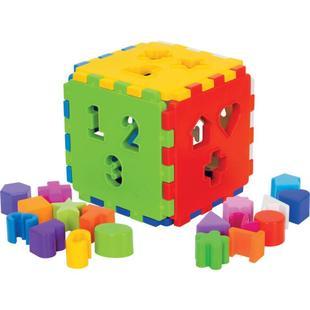 Cubo Didático Colorido com Blocos de Encaixar Mercado Toys 403 - Merco Toys