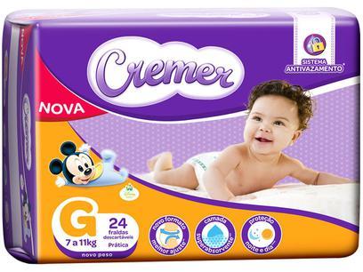 Fralda Cremer Disney Baby Tam. G - 7 a 11kg...
