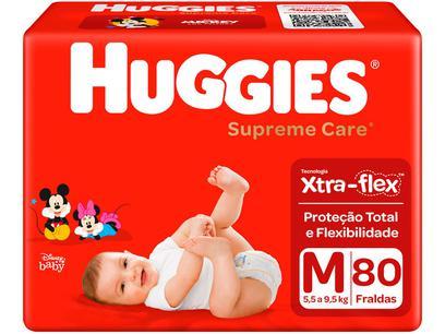 Fralda Huggies Turma da Mônica Supreme Care - Tam. M 5,5 a 9,5kg 80 Unidades