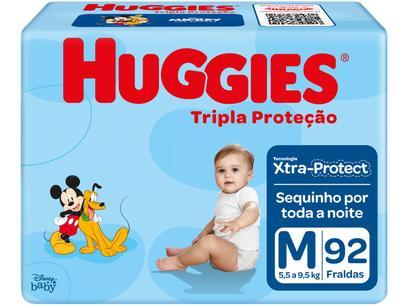 Fralda Huggies Turma da Mônica Tripla Proteção - Tam. M...