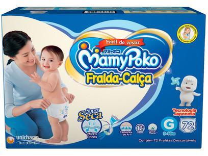 Fralda MamyPoko Calça Tam.G - 9 a 14kg 72 Unidades