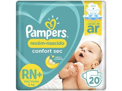 Fralda Pampers Confort Sec Tam. RN+ - 0 a 6kg...